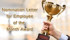 employee of the month nomination letter sample