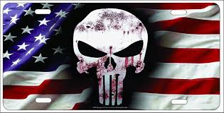 How To Tie Dye An American Flag Amazon Com The Punisher Skull On American Flag Background