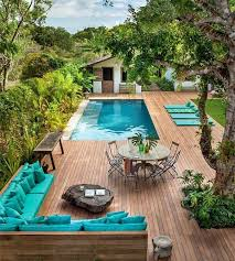 stylish landscaping ideas for backyard with pool garden design
