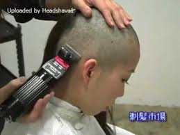 very beautiful headshave girls beautiful girl forced headshave in barbershop youtube