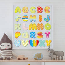Removable Wall Decals Nursery by Cartoon Wall Decals Nursery Baby Room 26 English Letters