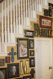 Basement Framing Ideas Splendid Stairway Wall Decorating Ideas Pinterest Empty Frames In