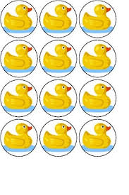 duck decorations 12 rubber duck edible rice paper fairy cup cake toppers pre cut