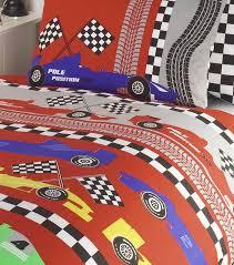 Cars Duvet Cover Red Checkered Race Car Bedding Full Duvet Cover Comforter Cover