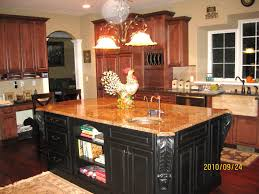 Kitchens With Different Colored Cabinets Kitchen Cabinet Off White Cabinets With Mocha Glaze Drawer Knobs