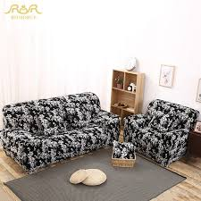 black and white floral print all inclusive sofa covers stretch
