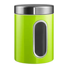 green canisters kitchen buy wesco square canister with window white amara