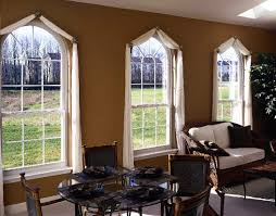 round top single hung windows w colonial grids weathermaster
