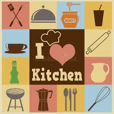 affiche cuisine rétro affiche de cuisine illustration stock illustration du
