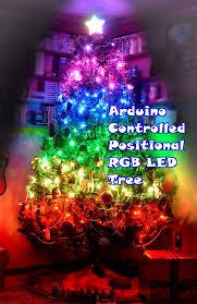 led christmas tree lights arduino controlled positional rgb led christmas tree 6 steps