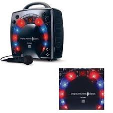 singing machine with disco lights karaoke system player singing machine with disco light effect led