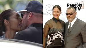 laurence fishburne u0027s wife spotted kissing a different man page six