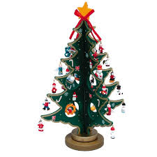 miniature christmas trees kurt adler 11 75 wooden tree with miniature wooden