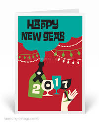 modern new years cards 2017 happy new year greeting cards mid century modern retro new