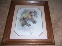homco home interior vintage homco home interior mare and foal wood frame