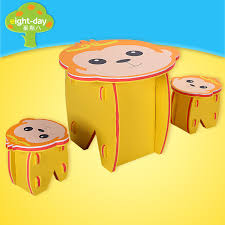 kids animal table and chairs monkey king lion chair table animal eva foam baby toy puzzle play