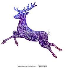 deer decorative stock vector 184251278