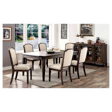 Transitional Dining Room Sets Sun U0026 Pine Lizbeth Transitional Dining Table Wire Brushed Brown