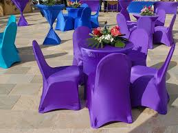 wedding table covers blue and purple spandex covers for cocktail wedding table