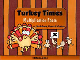 turkey times multiplication facts thanksgiving worksheets
