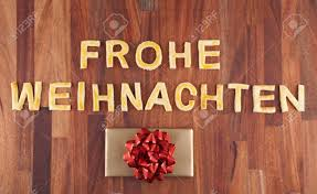 the german word frohe weihnachten which means merry