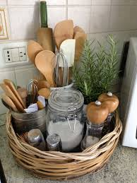ideas for decorating kitchen countertops kitchen basket great way to keep things together that look great