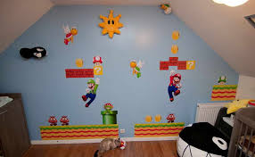 Super Mario Decorations Miscellaneous Super Mario Brothers Wall Decals For Decorative