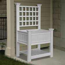 new england arbors va kingsrow planter with trellis awesome