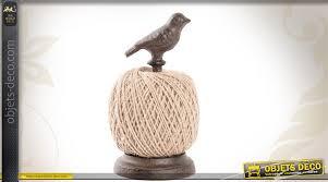 ficelle cuisine support en fonte avec bobine de ficelle motif oiseau
