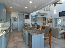 cottage kitchen with flat panel cabinets u0026 complex granite