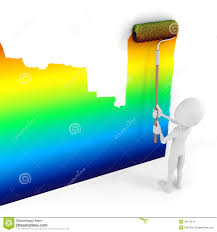 painting a wall 3d man painting a wall stock illustration image of paint 28173512