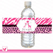 printable personalized giraffe water bottle labels wrappers