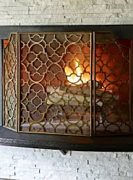 Sparks Fireplace - this three panel fireplace screen brings beauty to your hearth an