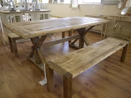 Elm Dining Table Large Elm Dining Kitchen Table 6 7 Two Benches Co Uk