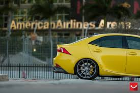 lexus yellow vossen wheels lexus is vossen flow formed series vfs 1