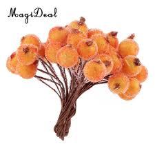 artificial flower home decor online shop magideal 200pcs mini christmas frosted fruit berry