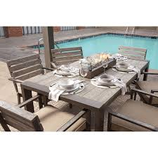 outdoor dining table set with swivel chairs u0026 tank storage box by