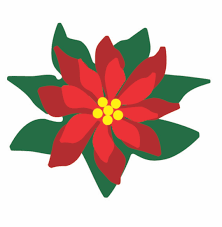 poinsettia clipart outline pencil and in color poinsettia