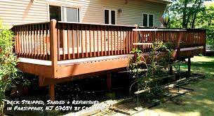 deck porch staining refinishing restoration service