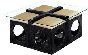 Glass Ottoman Coffee Table Coffee Table Ottoman With Seating Glass Coffee Table And 4