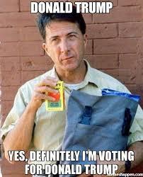 Voting Memes - donald trump yes definitely i m voting for donald trump meme