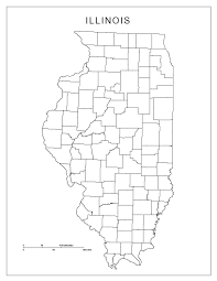 Blank State Maps by Illinois Blank Map
