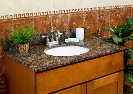 Granite For Bathroom Vanity Lesscare Bathroom Vanity Tops Granite Tops Baltic Brown