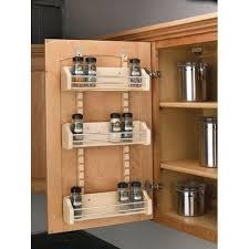 cabinet door mounted spice rack rev a shelf 4asr 18 4asr series adjustable door mount spice rack