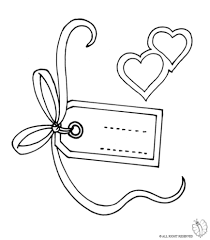 coloring page of label names note greeting of love for coloring