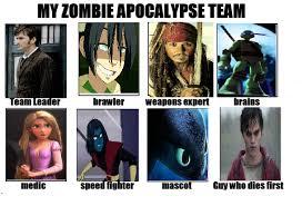 Zombie Team Meme - my zombie apocalypse team by runawaycomics on deviantart