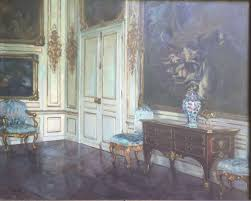 otto fritzsche german 1872 1948 palace interior oil on canvas