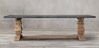 restoration hardware marble table salvaged wood marble trestle collection grey marble rh