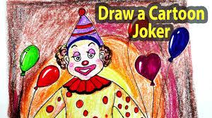 draw cartoon joker step step joker character drawing