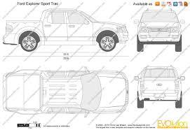 2009 Ford Explorer The Blueprints Com Vector Drawing Ford Explorer Sport Trac
